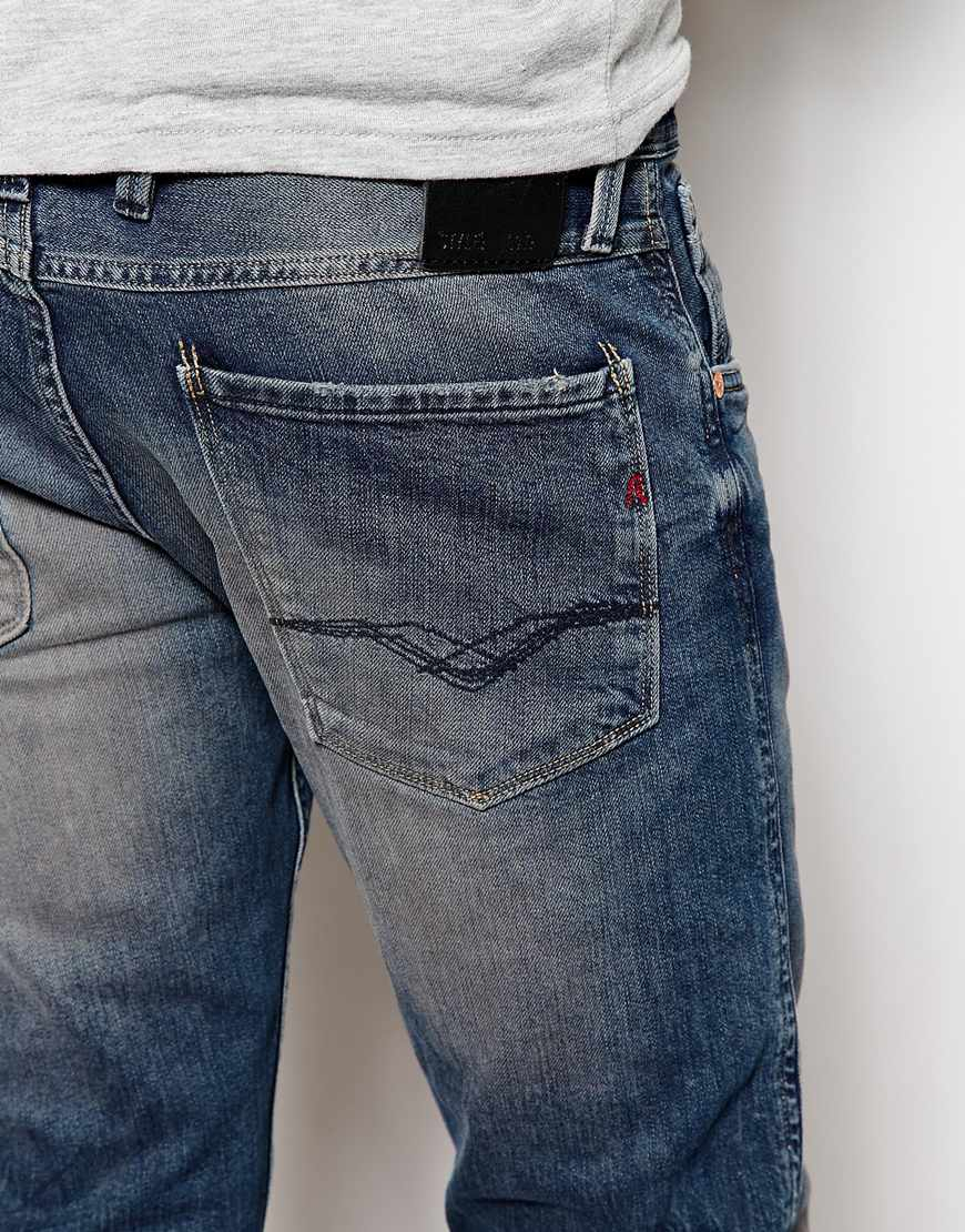 Lyst - Replay Jeans Laserblast Life Anbass Slim Fit Mid ...