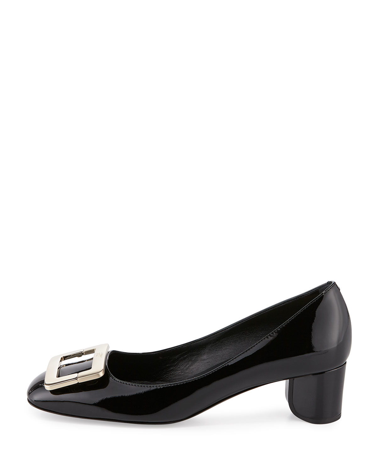 1d96267341 Roger Vivier Decollete U-cut Mid-heel Pump in Black - Lyst