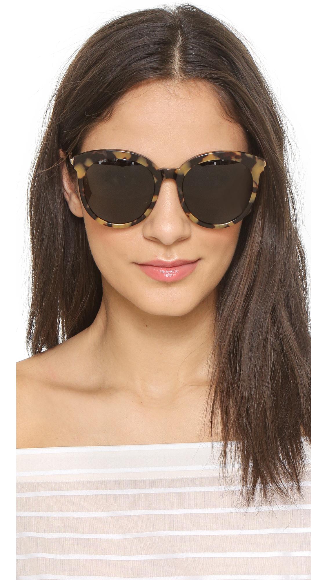 e37b4b11070 Lyst - Gentle Monster Lovesome Sunglasses - Tortoise black in Black