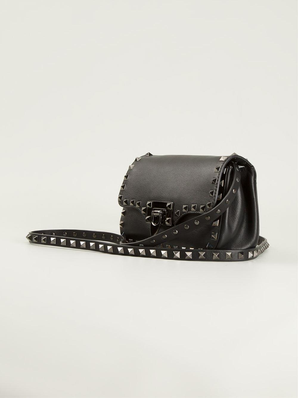bee4d4ab6b Valentino 'Rockstud Noir' Cross Body Bag in Black - Lyst