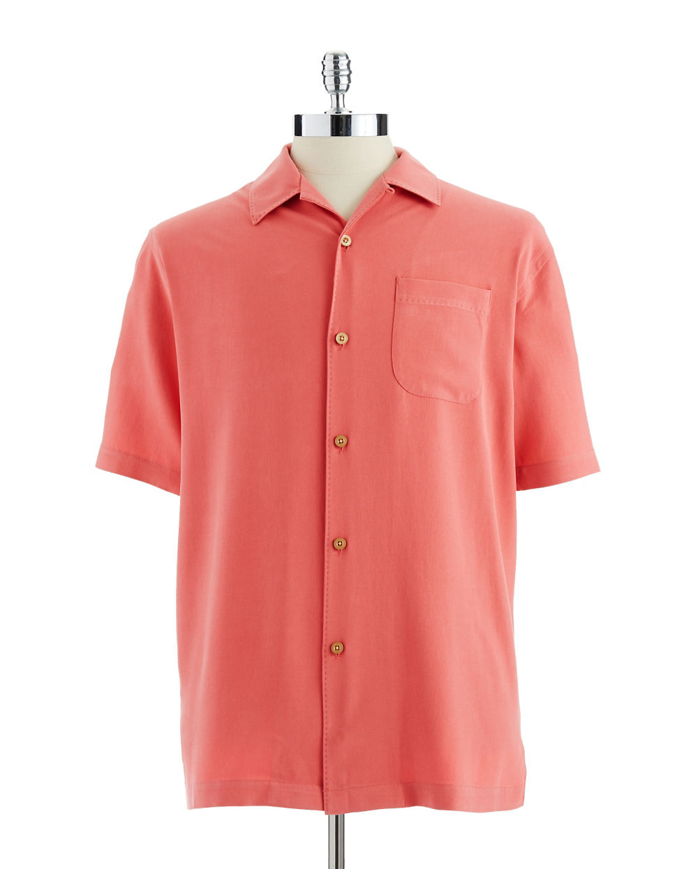 Tommy bahama catalina twill silk shirt in red for men for Tommy bahama christmas shirt 2014