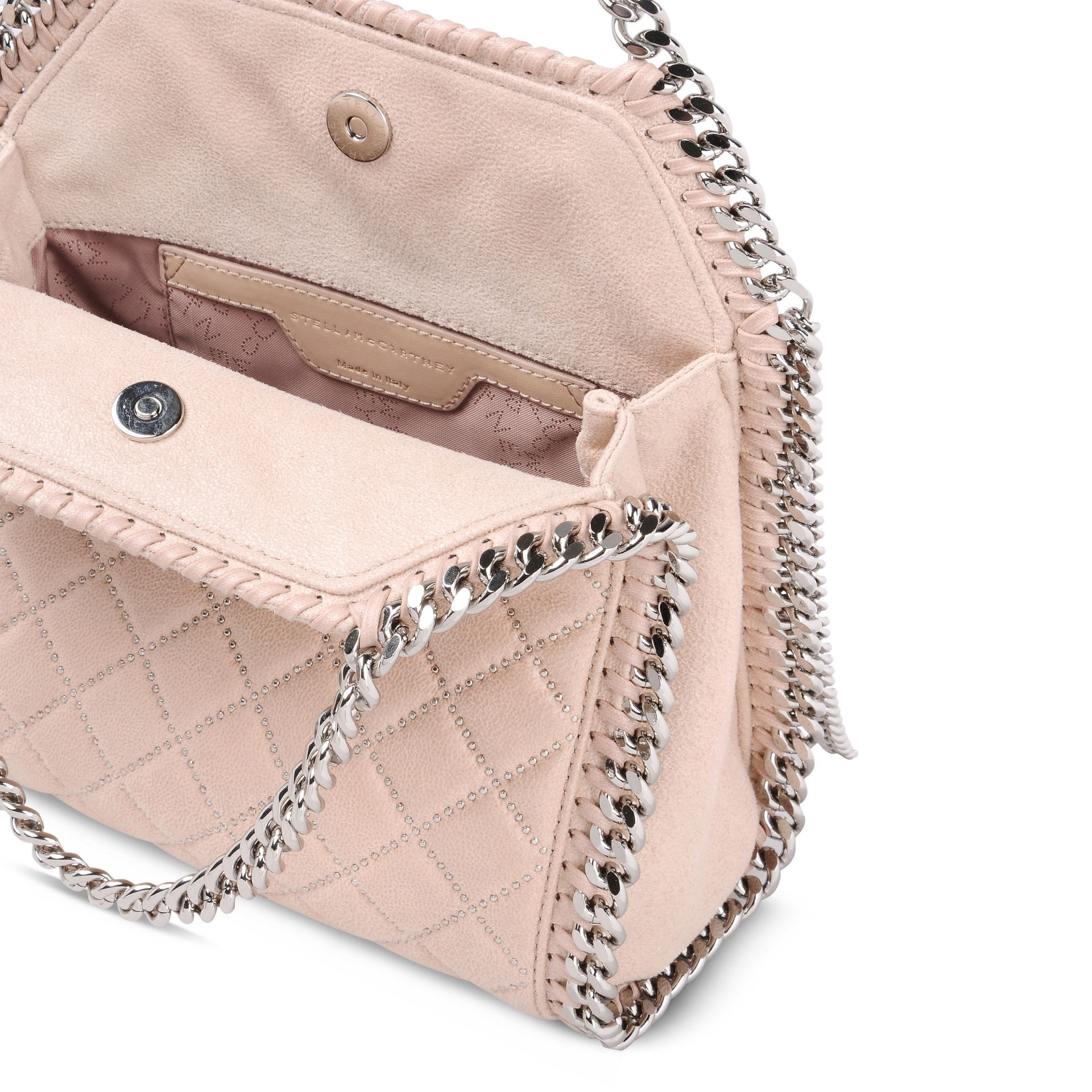 Lyst - Stella McCartney Falabella Studded Quilted Shaggy Deer Mini ... bac25575eb193