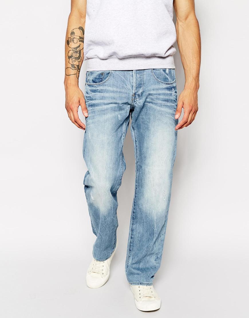 g star raw g star jeans new radar low loose light aged in. Black Bedroom Furniture Sets. Home Design Ideas