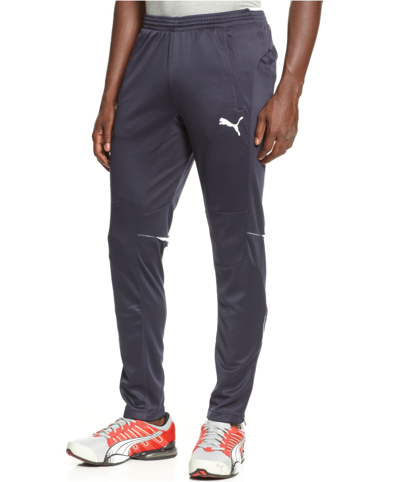 973509a12bad Lyst - PUMA Tapered Drawstring Training Pants in Blue for Men
