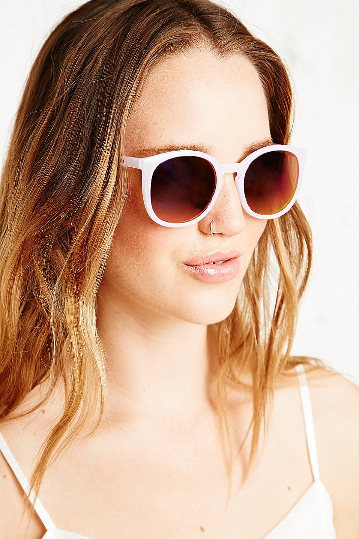 Quay Pink Sunglasses  quay dixi pink mirrored sunglasses in pink lyst