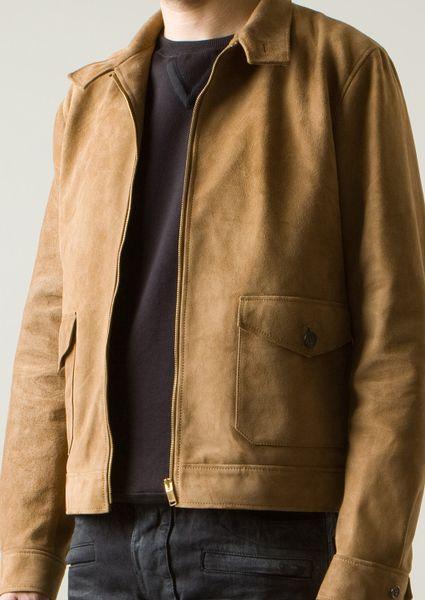 Saint Laurent Suede Leather Jacket in Beige for Men (camel) | Lyst