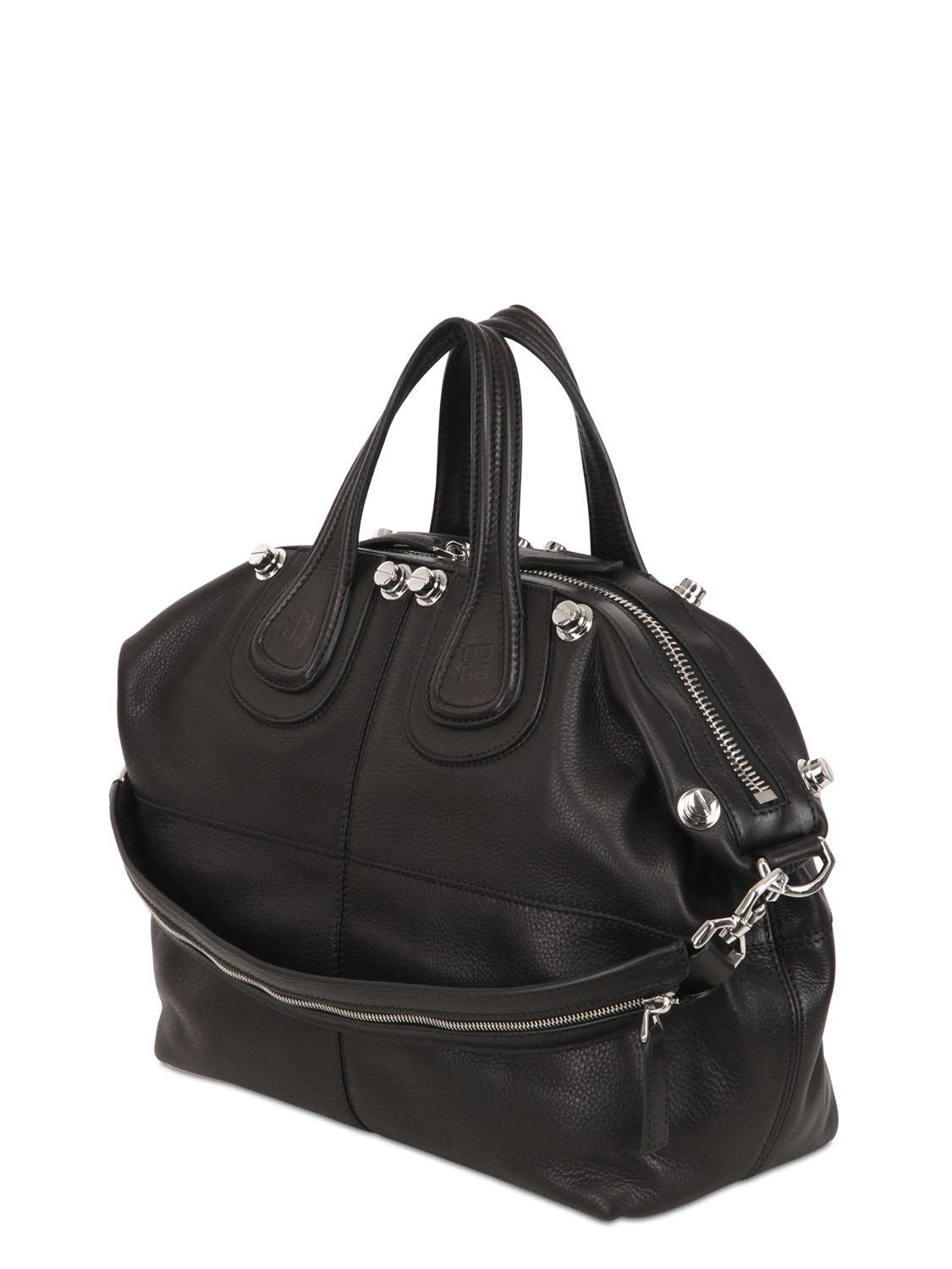 4a43591ede Lyst - Givenchy Medium Nightingale Studded Leather Bag in Black