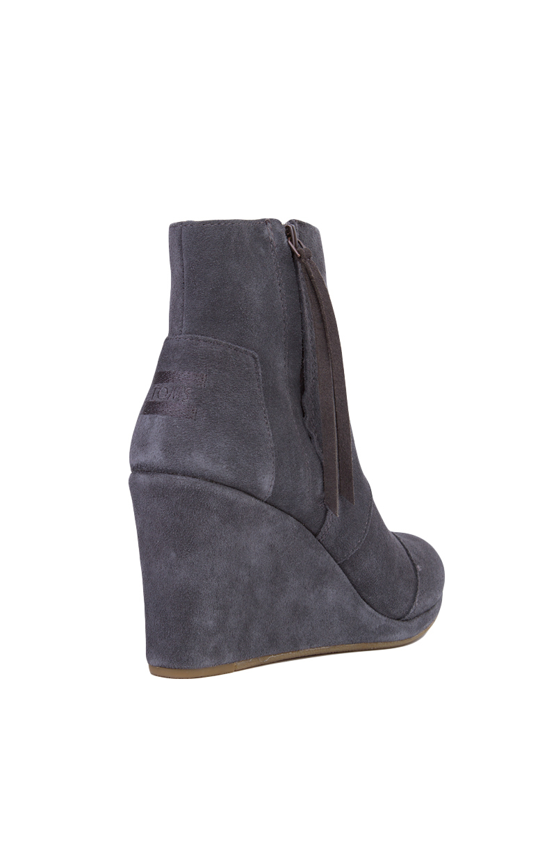 70ab4c80fcb Lyst - TOMS Women s Desert Wedge High Ankle Boots in Gray