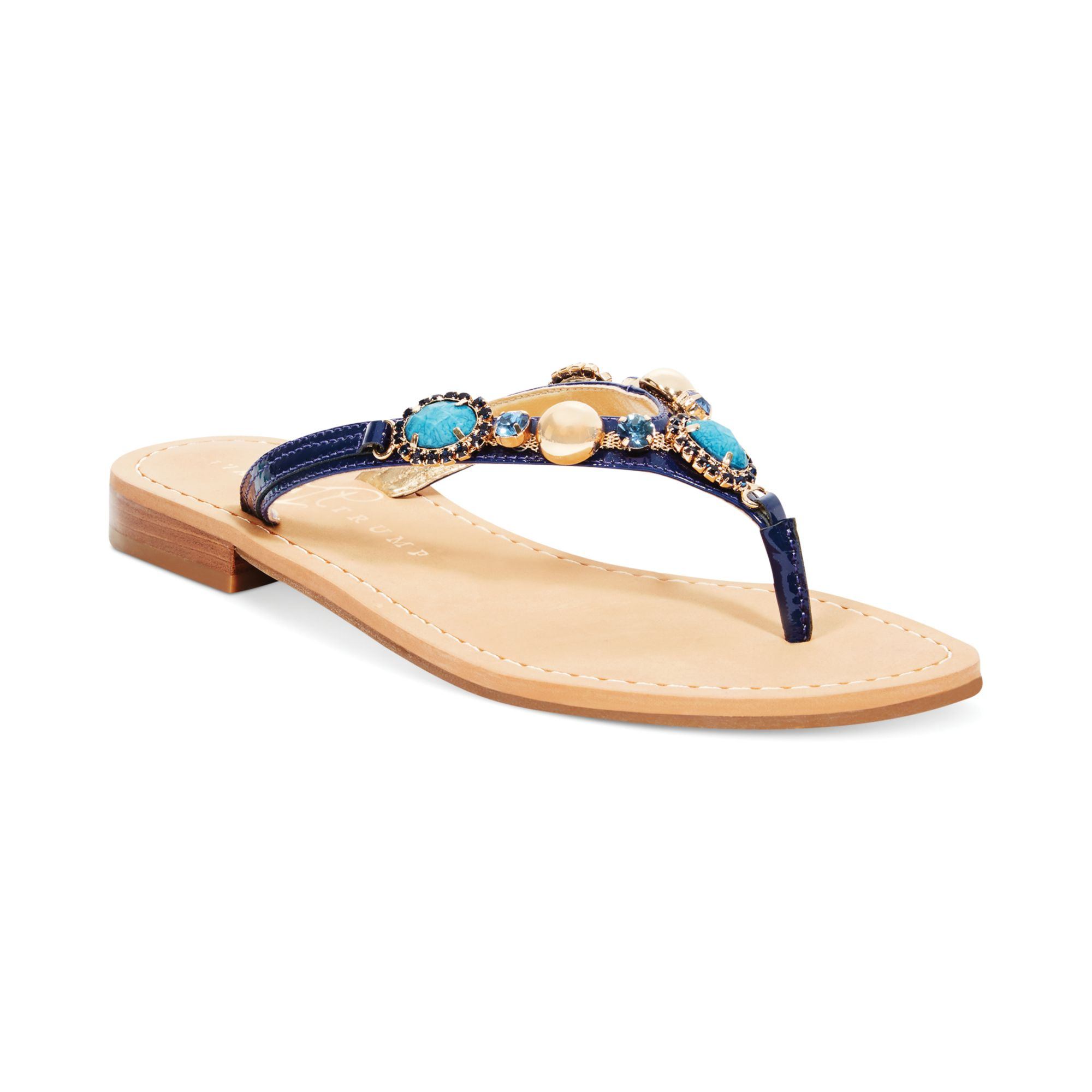 8f921a3ef Lyst - Ivanka Trump Pryor Flat Thong Sandals in Blue