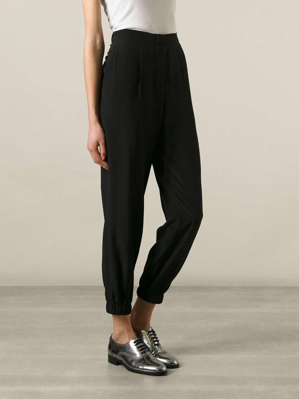 high waisted pants - Black Sonia Rykiel cnN6zTrRfv