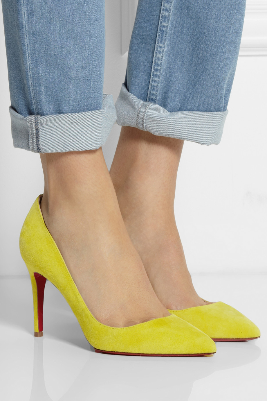 5d9774293bd3 Gallery. Previously sold at  NET-A-PORTER · Women s Yellow Heels Women s Christian  Louboutin Pigalle