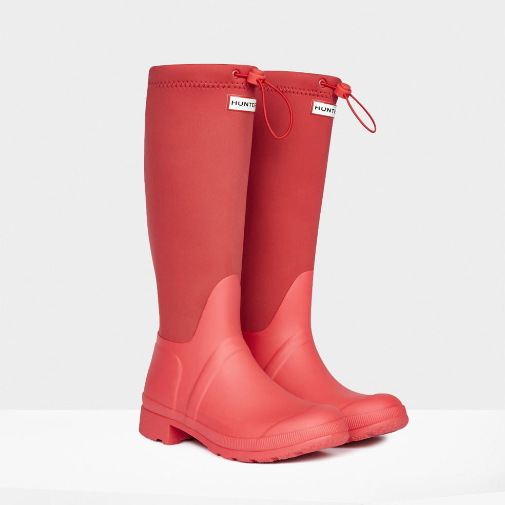 Hunter Original Tour Neoprene Rain Boots in Pink for Men ...