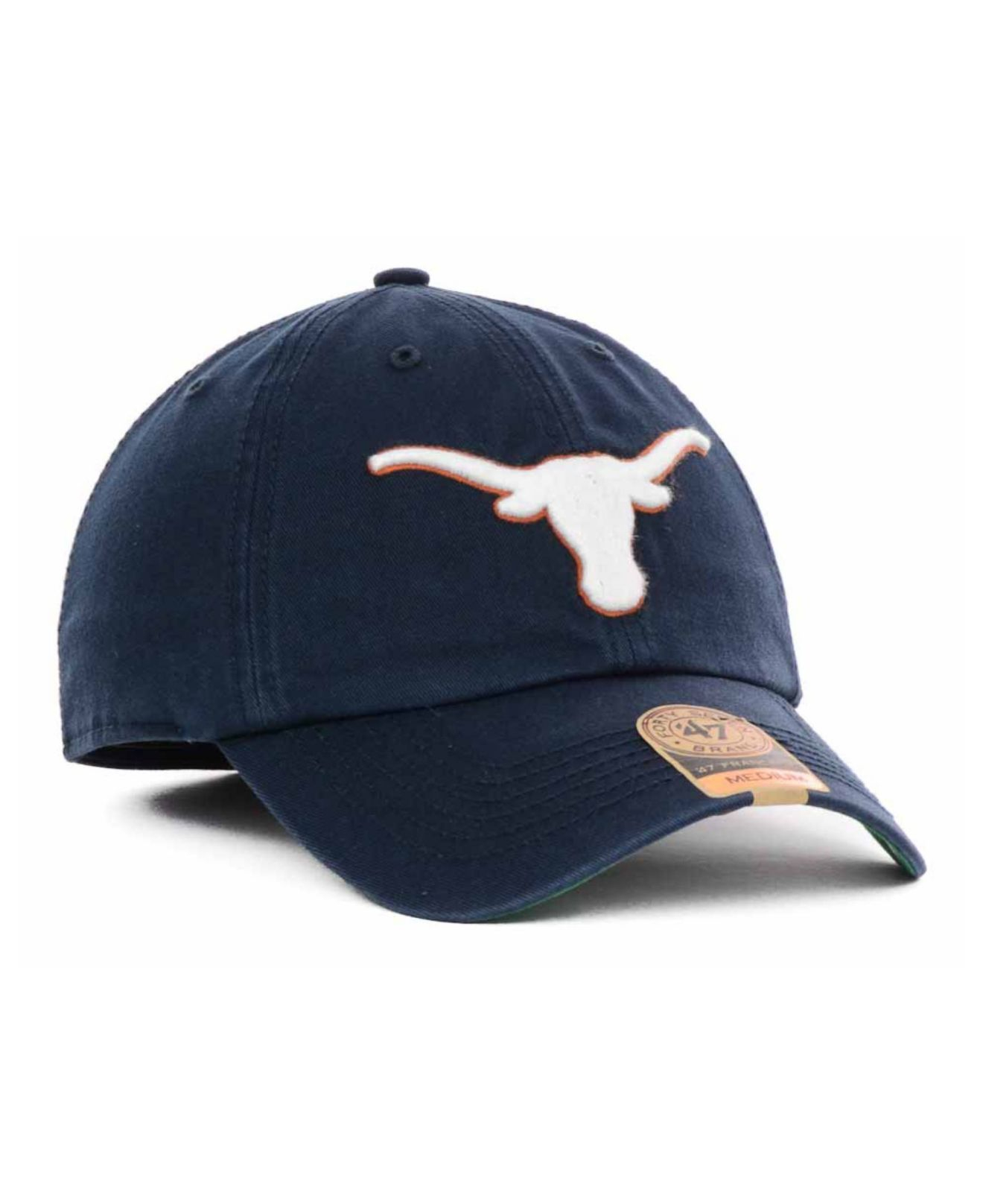new styles 09d59 b279e reduced texas longhorns top of the world fitted hat the vault 1 2b358  a7fb7  italy lyst 47 brand texas longhorns navy franchise cap in blue for  men 62dfd ...