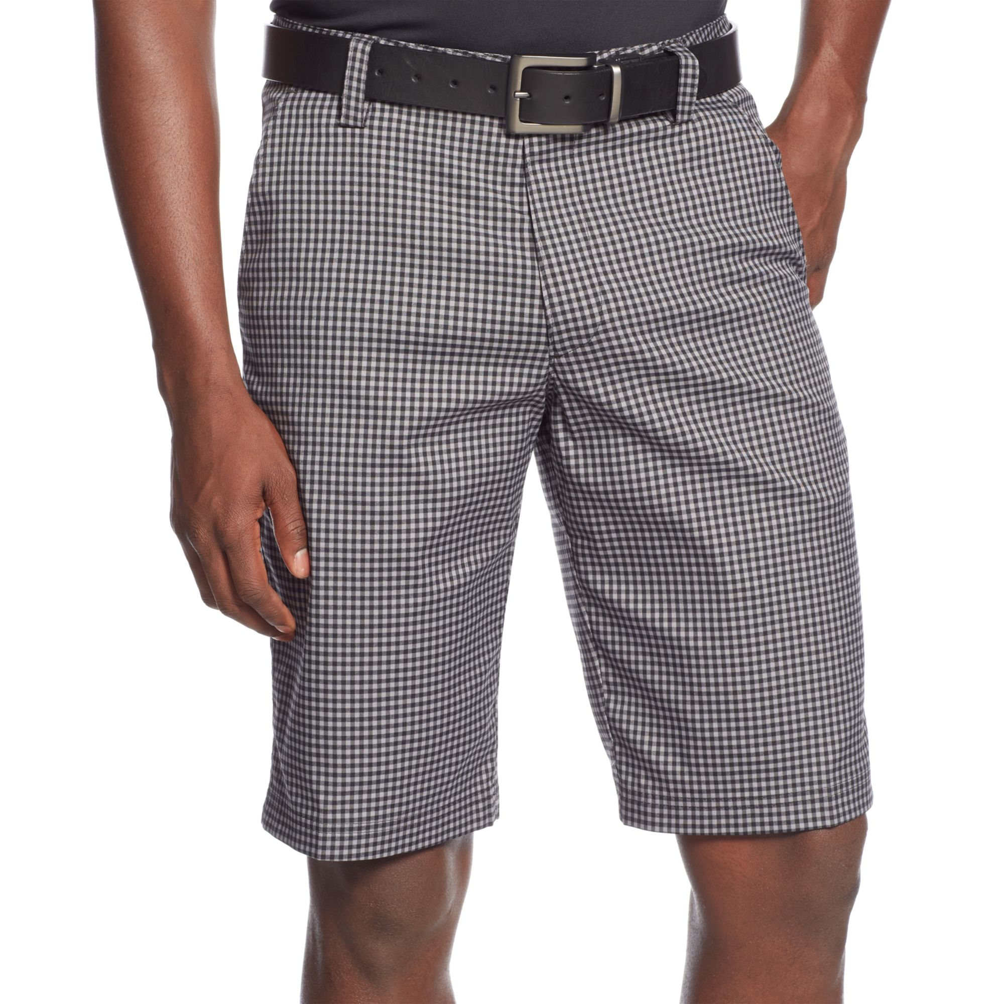 Lyst - Under Armour Gingham Check Golf Shorts in White for Men