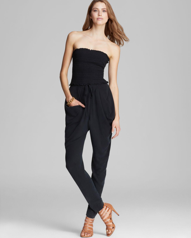 Catherine Malandrino Jumpsuit Finesse Strapless in Black ...