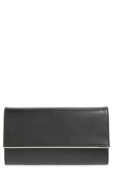 6769ecfde3be Lyst - Halogen Textured Leather Convertible Crossbody Bag in Black