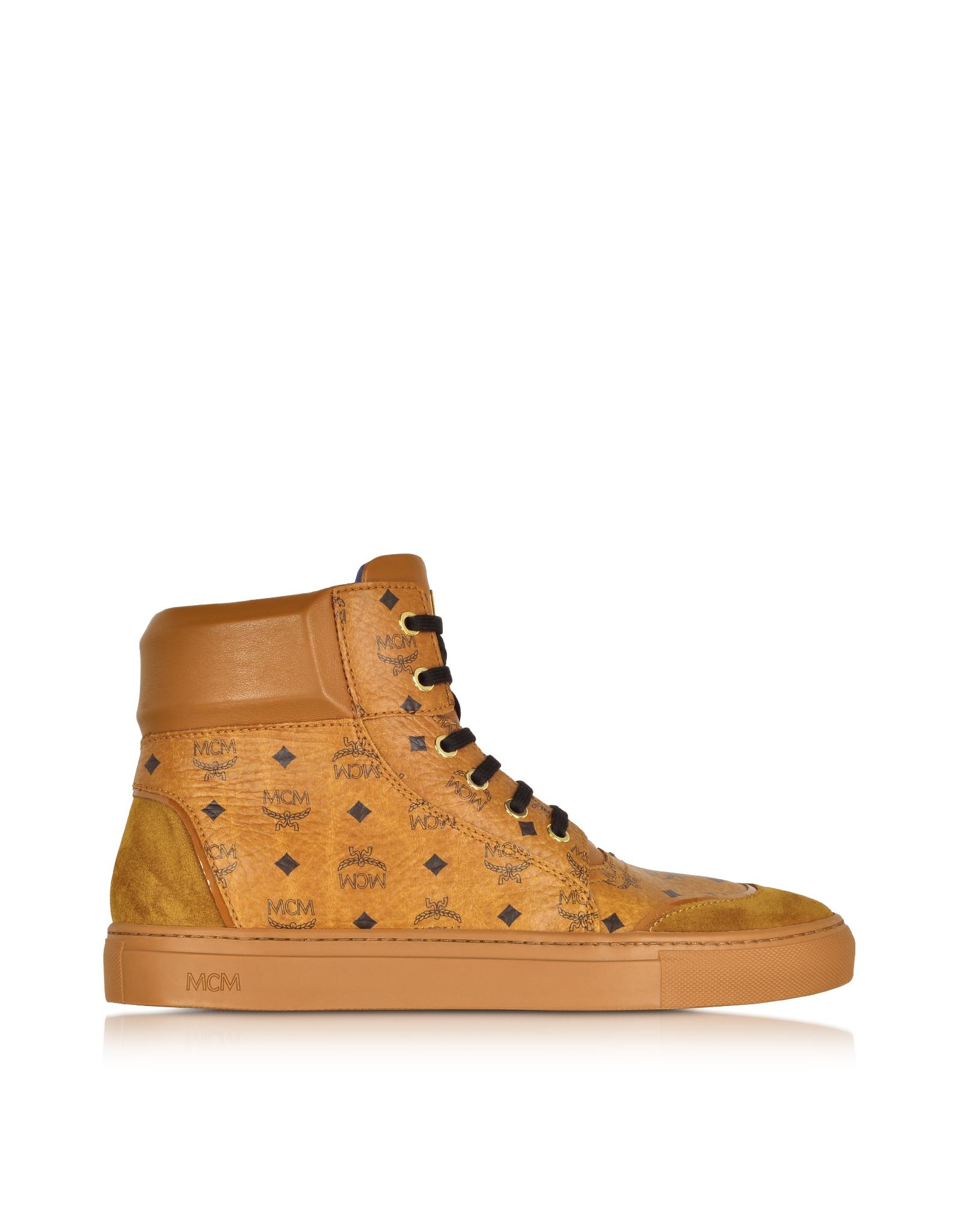 Mcm Cognac Classic Street High-top Sneaker in Brown for ...