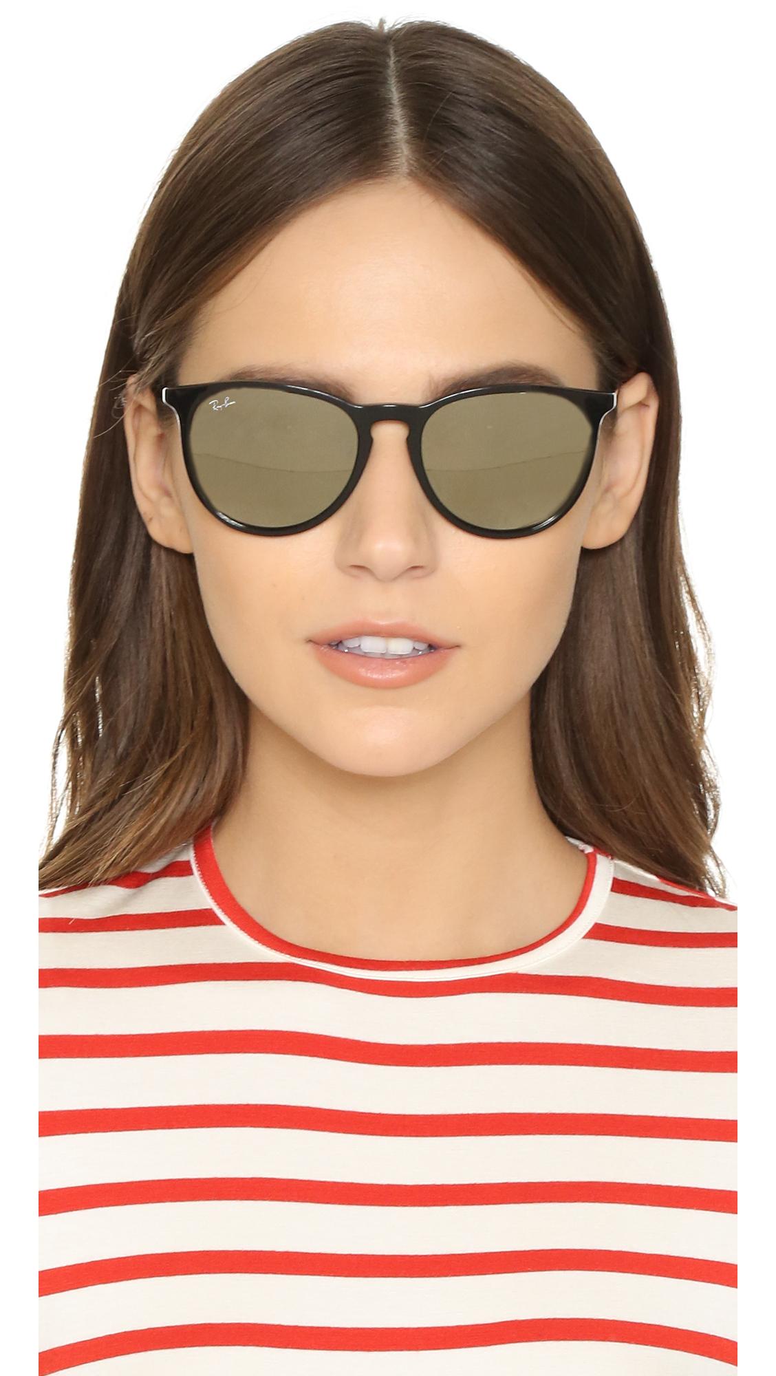 ray ban erika gold  Ray-ban Erika Sunglasses in Black