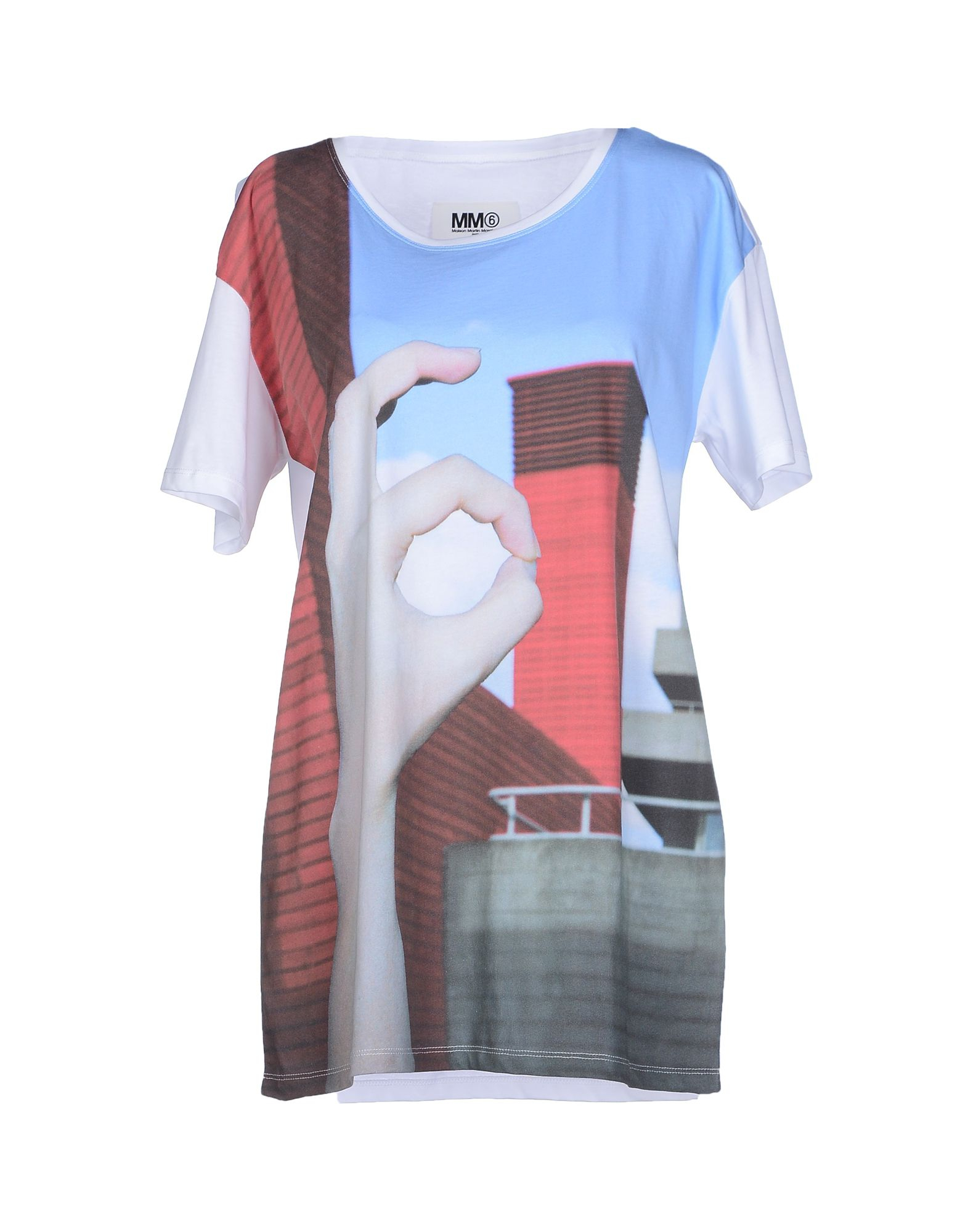 mm6 by maison martin margiela t shirt in multicolor lyst