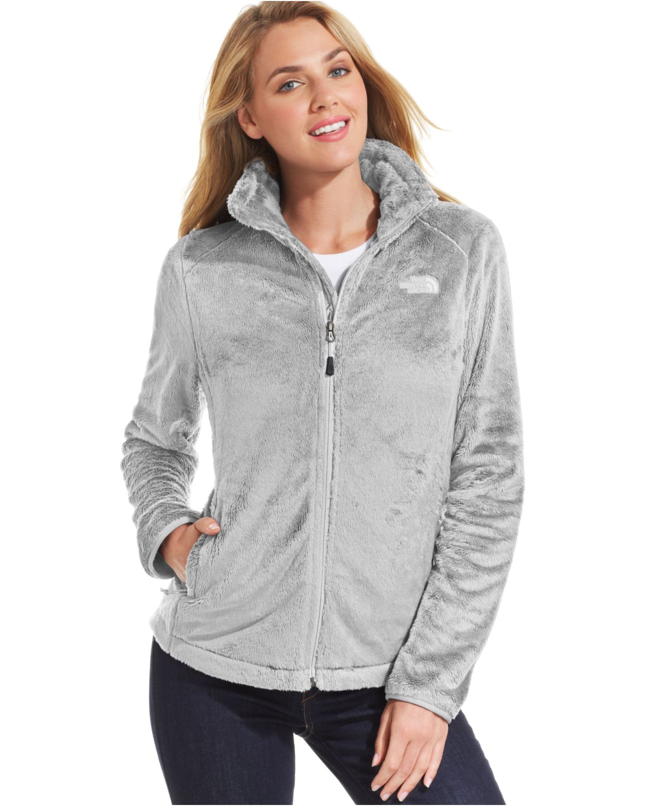 The north face osito jacket with hood