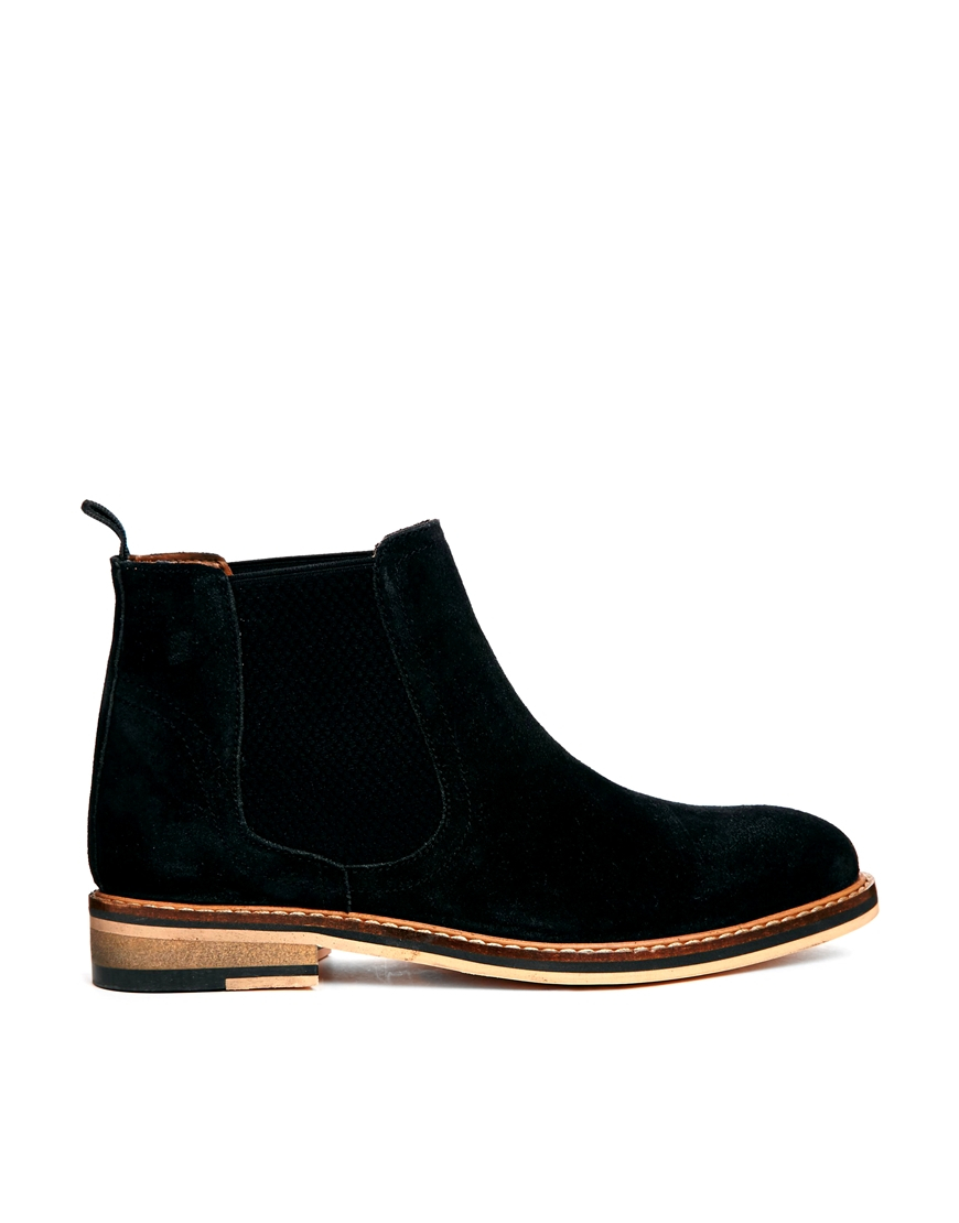 asos activity suede chelsea boots in black lyst
