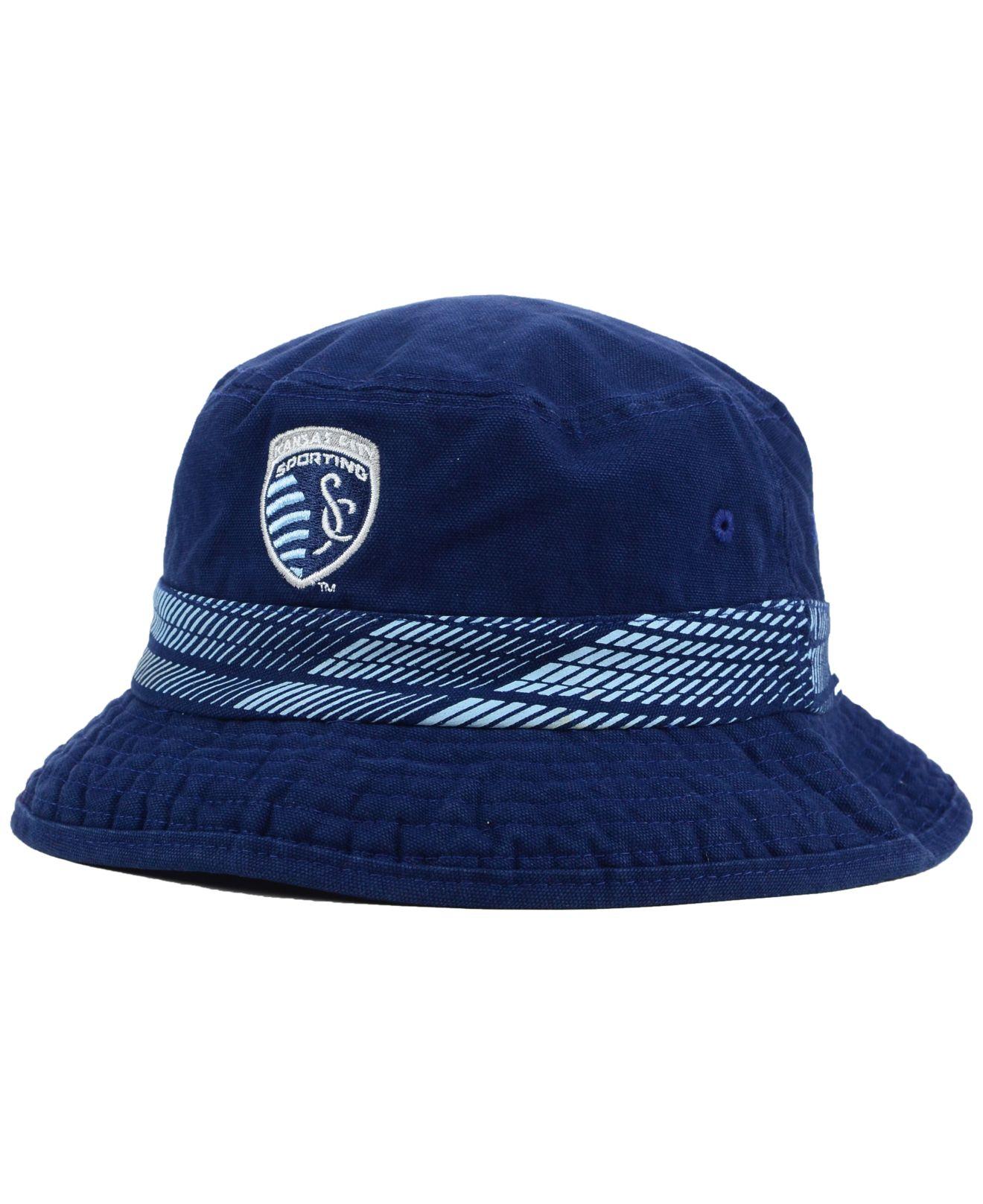 3f41efd3a09 Lyst - adidas Sporting Kansas City Evolution Bucket Hat in Blue for Men