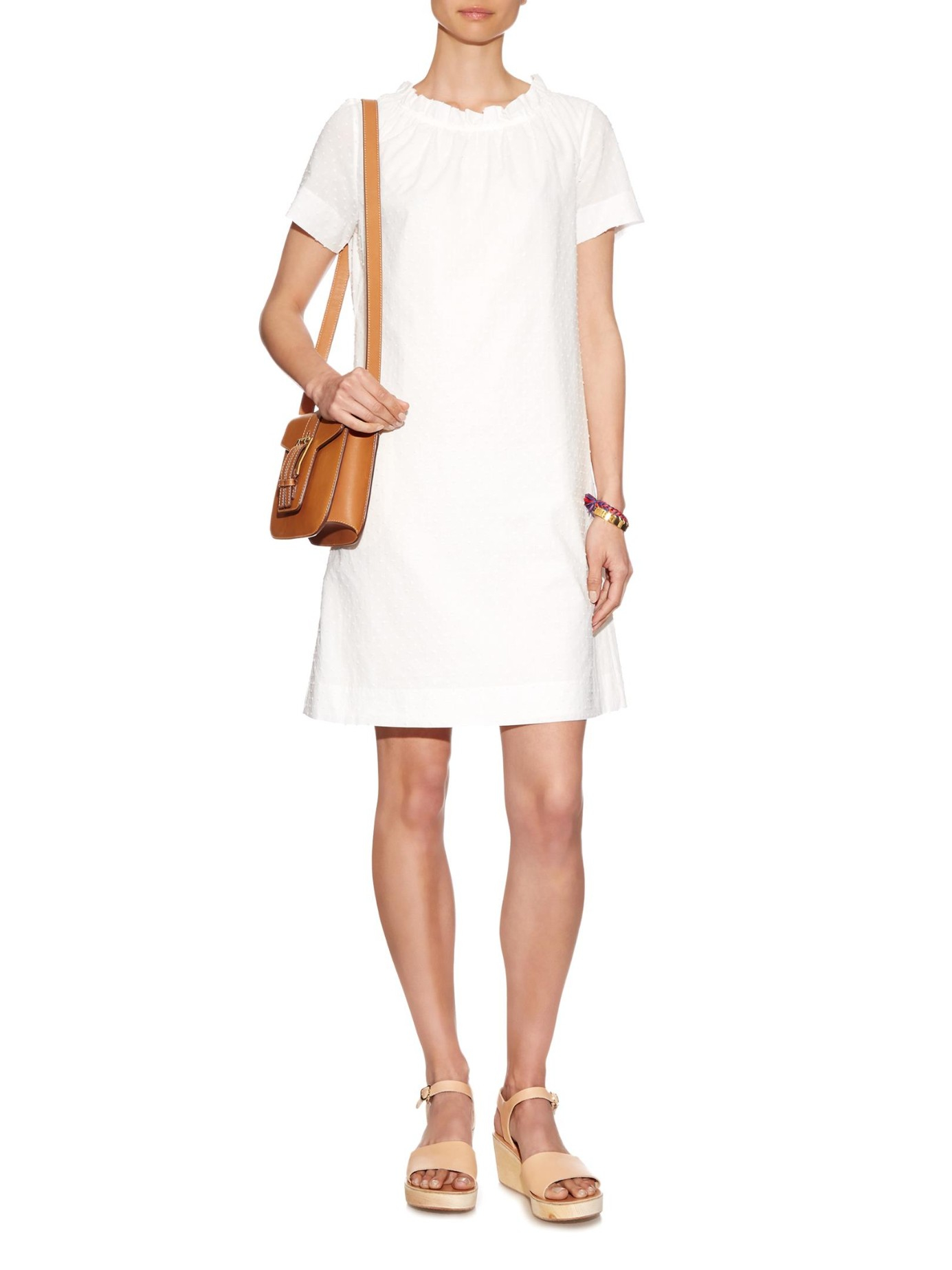 a p c robe sally fil coup dress in white lyst. Black Bedroom Furniture Sets. Home Design Ideas