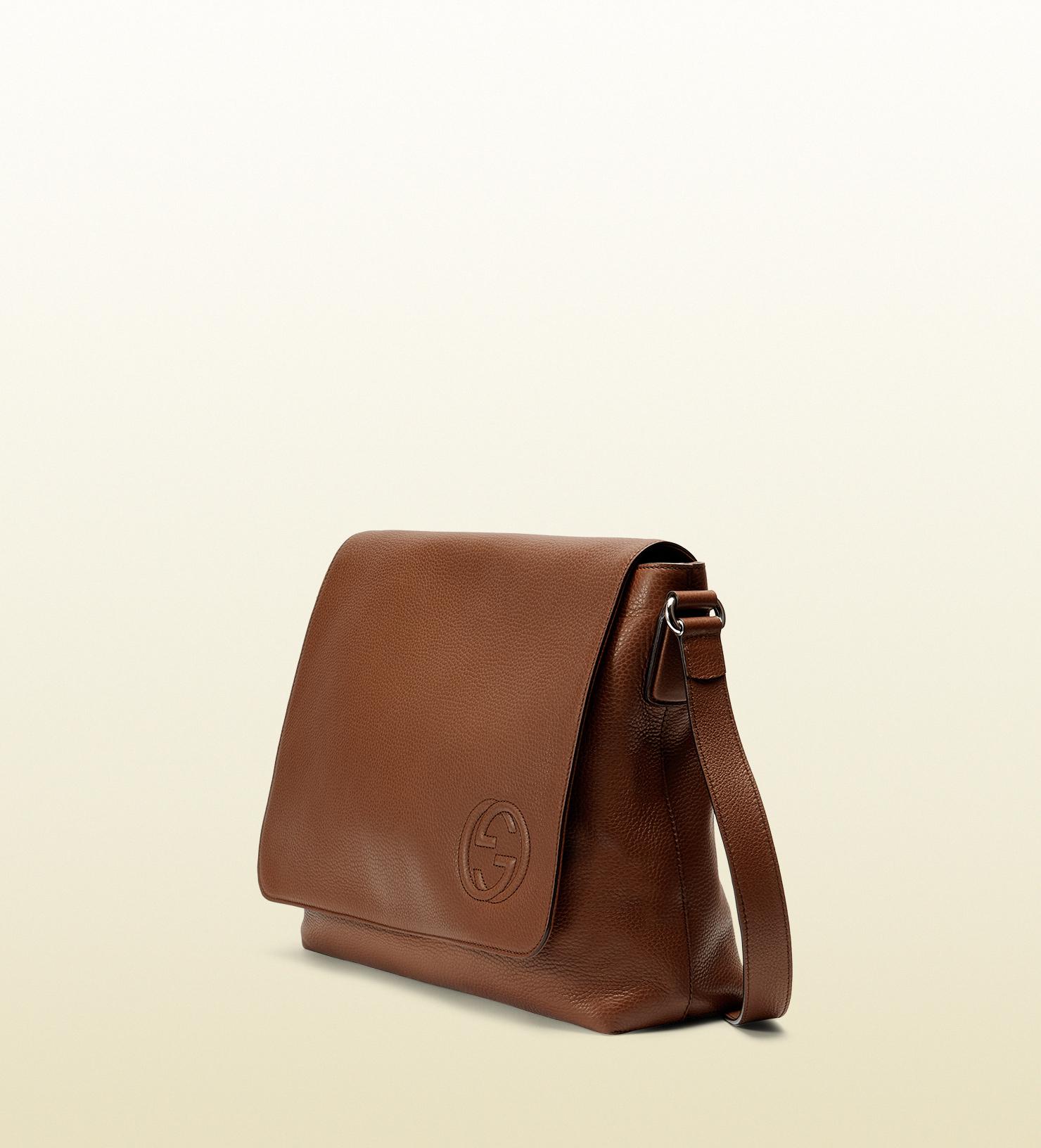 a608ee2201e7a Vine Gucci Bag Brown Leather 1960s Jackie O Bouvier Purse