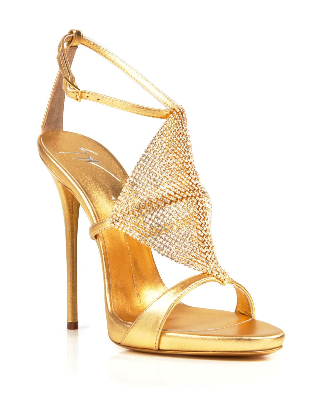 fe7cdf2fe3636 Giuseppe Zanotti Open Toe Platform Evening Sandals - Coline Diamond ...