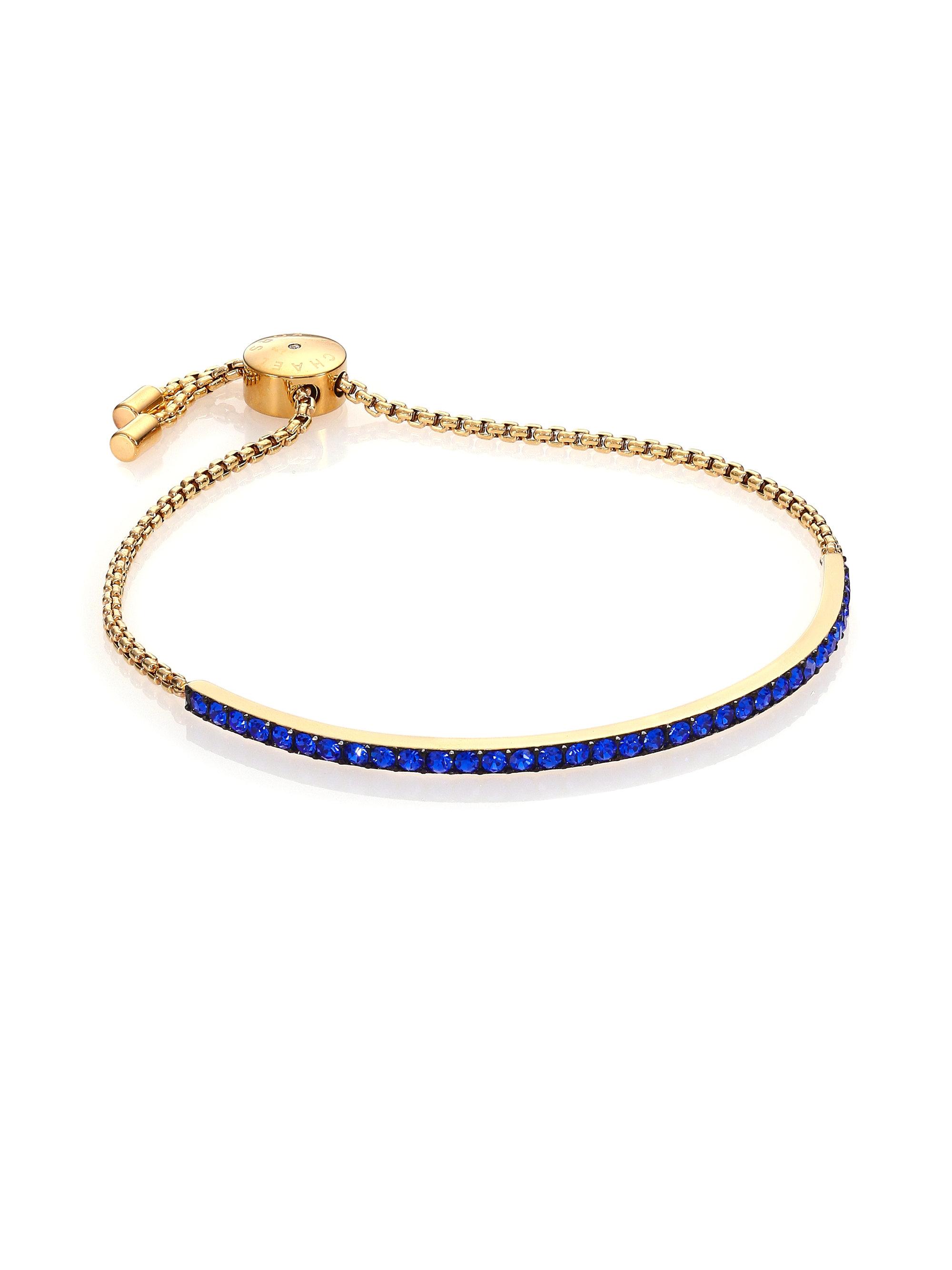 Michael Kors Parisian Jewels Pav 233 Bar Bracelet In Blue Lyst