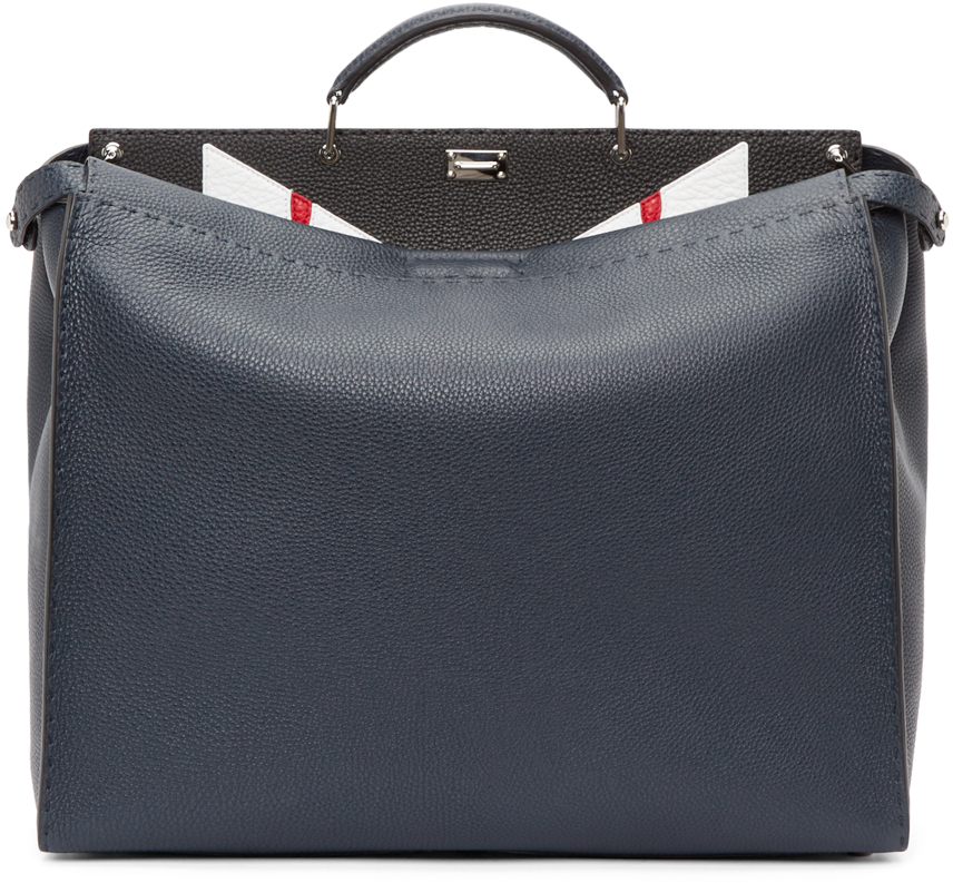 Lyst - Fendi Navy Large Peekaboo Monster Tote in Blue for Men f80a36a439eb1