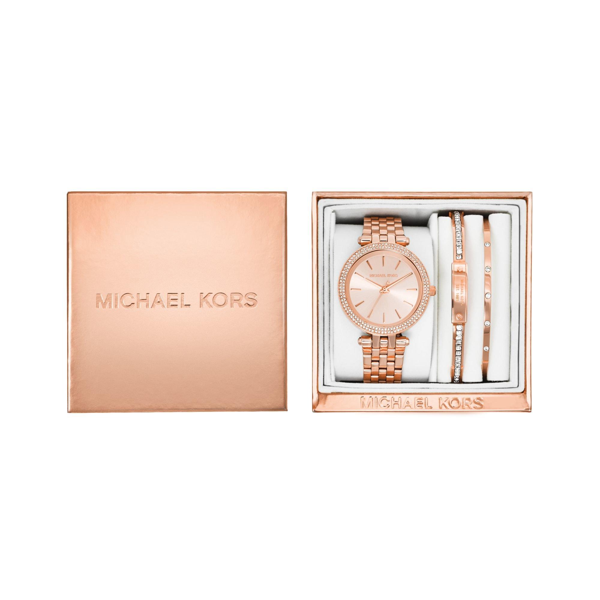 Michael kors Darci Rose Gold-tone Gift Set in Pink | Lyst