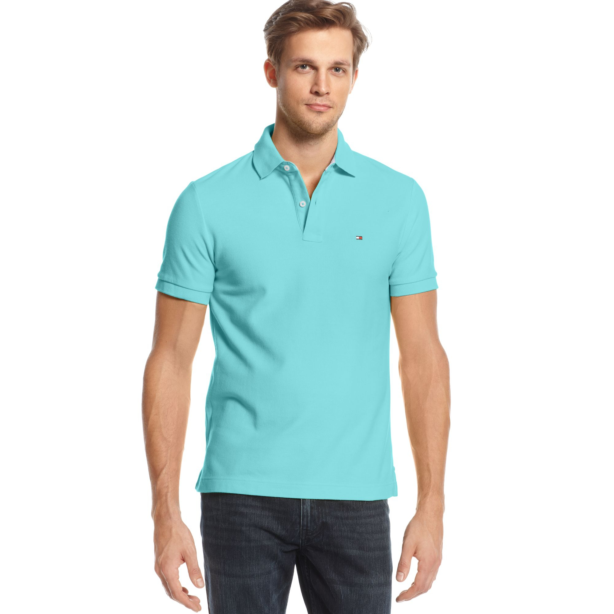 78c22673bb4fc Lyst - Tommy Hilfiger Slim-fit Ivy Polo Shirt in Blue for Men