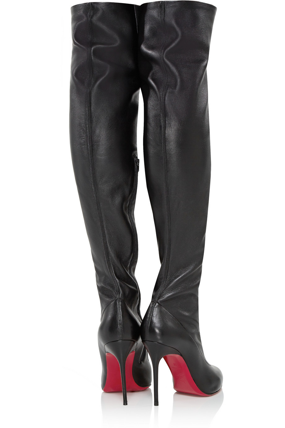 Black Leather Over The Knee Boots Coltford Boots