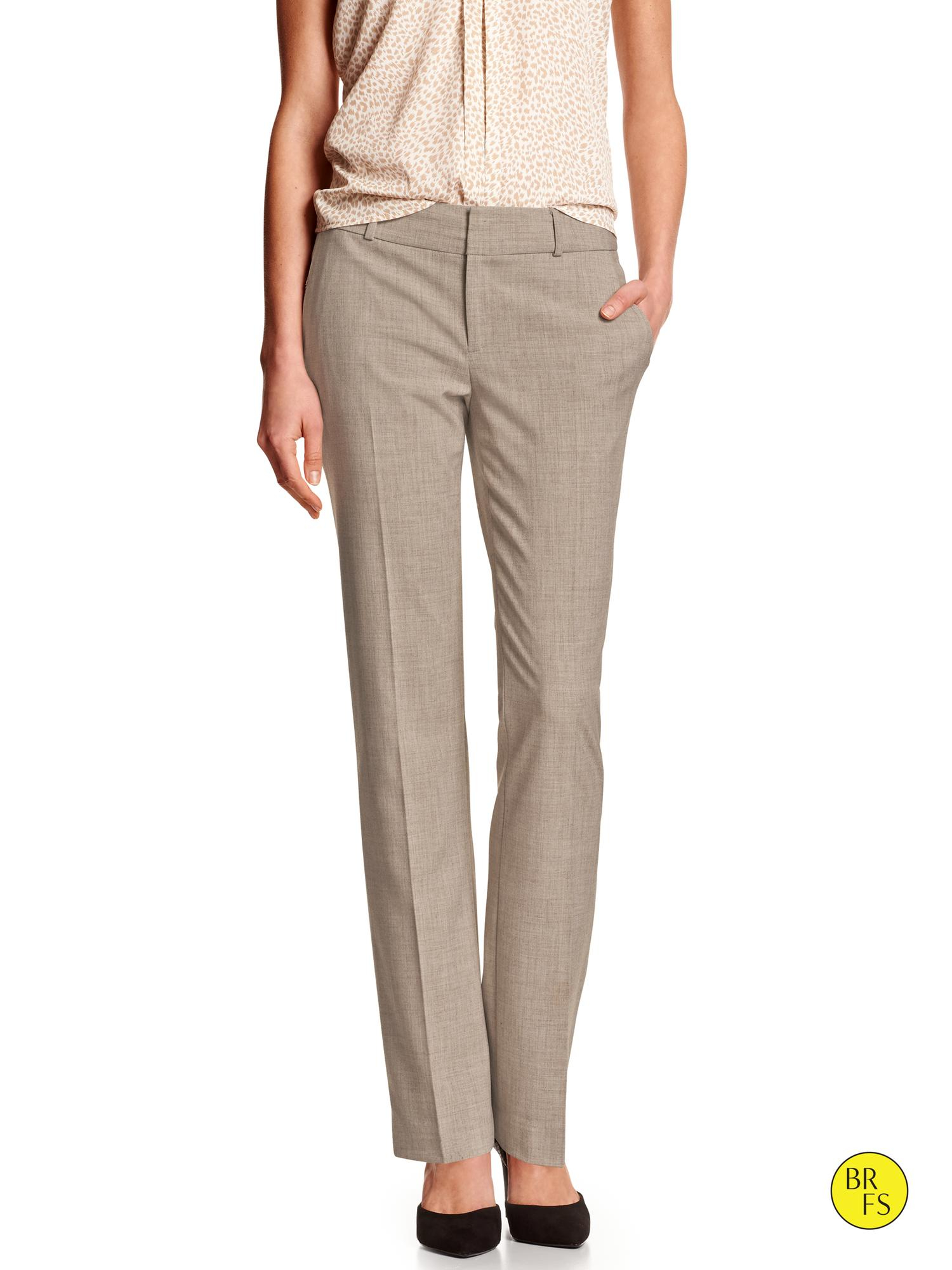 Banana republic Factory Mélange Taupe Suit Pant in Gray