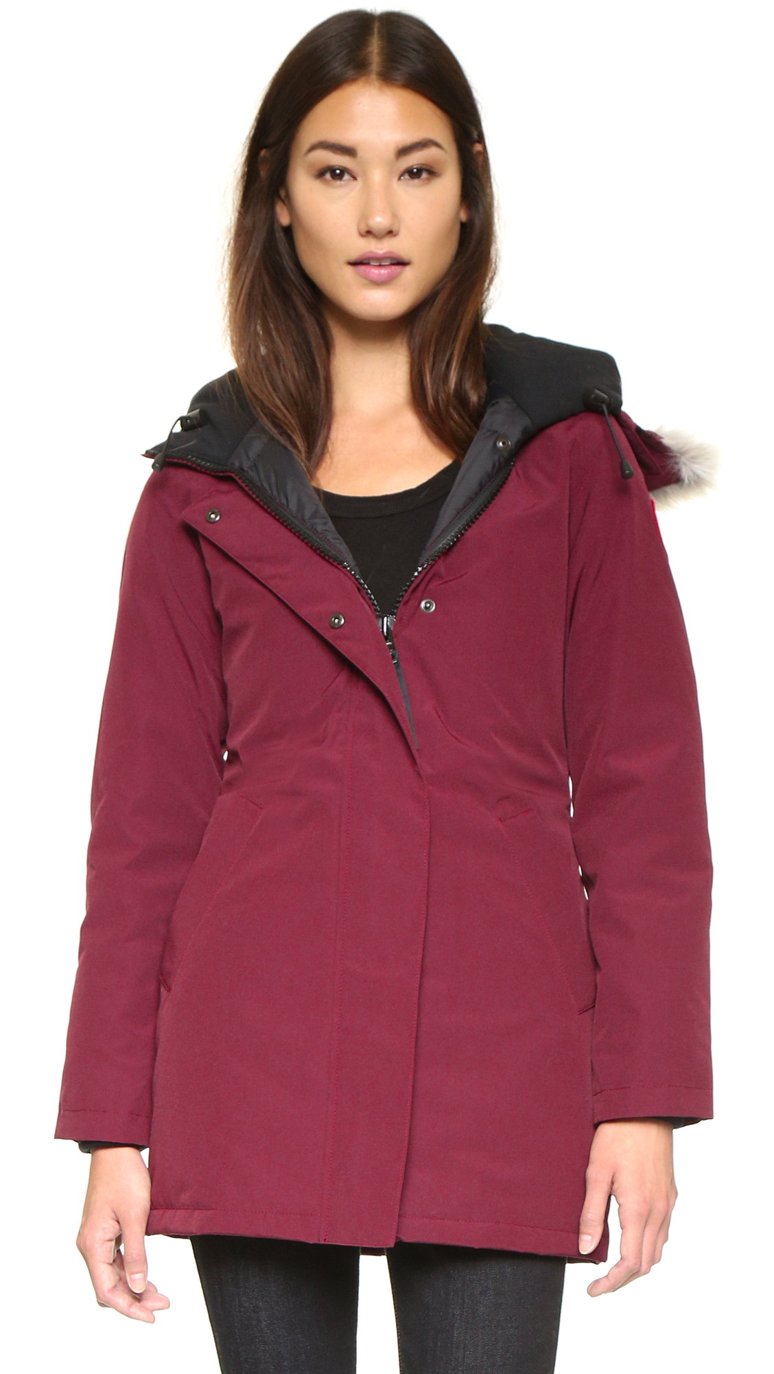 canada goose victoria parka bordeaux in purple bordeaux. Black Bedroom Furniture Sets. Home Design Ideas