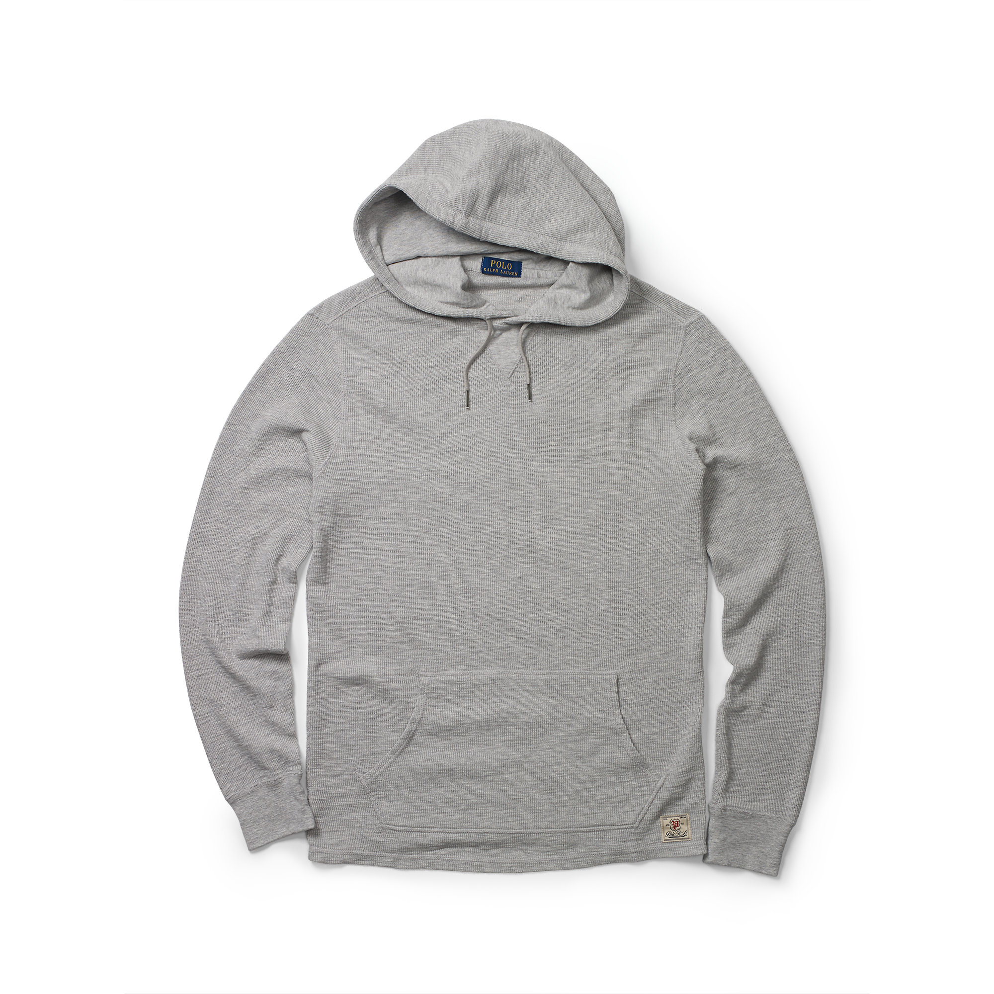 502cfdfd1 Polo Ralph Lauren Waffle-knit Cotton Hoodie in Gray for Men - Lyst
