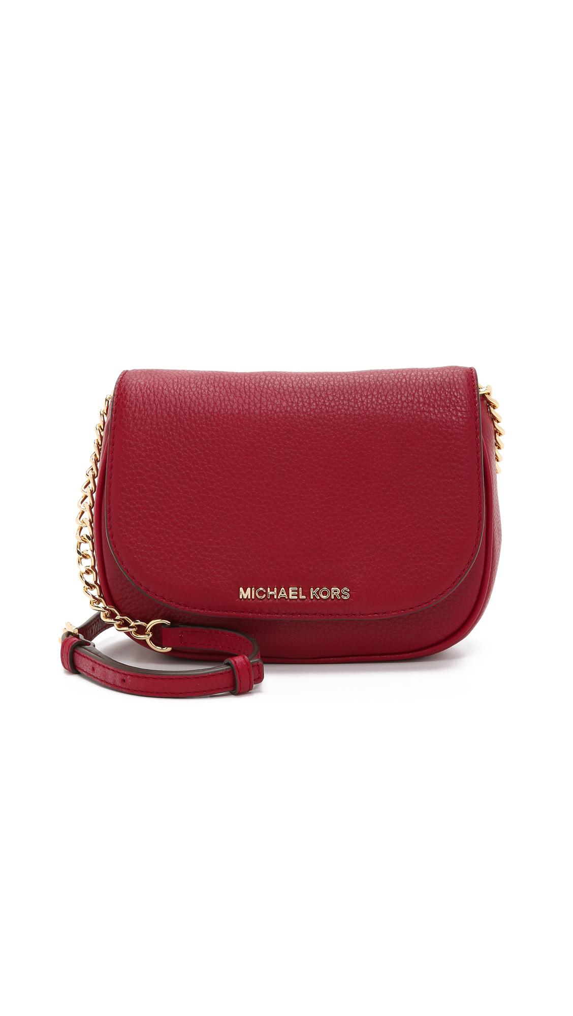 6972fe0ff83c MICHAEL Michael Kors Bedford Small Cross Body Bag - Cherry in Red - Lyst