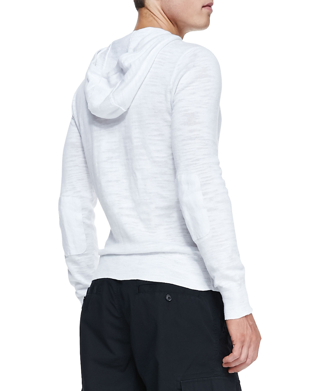 John varvatos Pullover Hoodie Sweater White in White for Men | Lyst