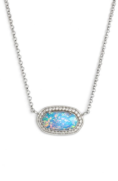 Kendra Scott Eloise Pendant Necklace In Blue Lyst