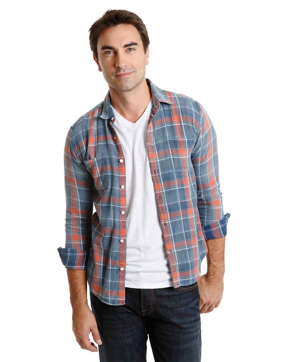Lucky Brand Classic Fit Axe Plaid Sport Shirt in Pink for ...
