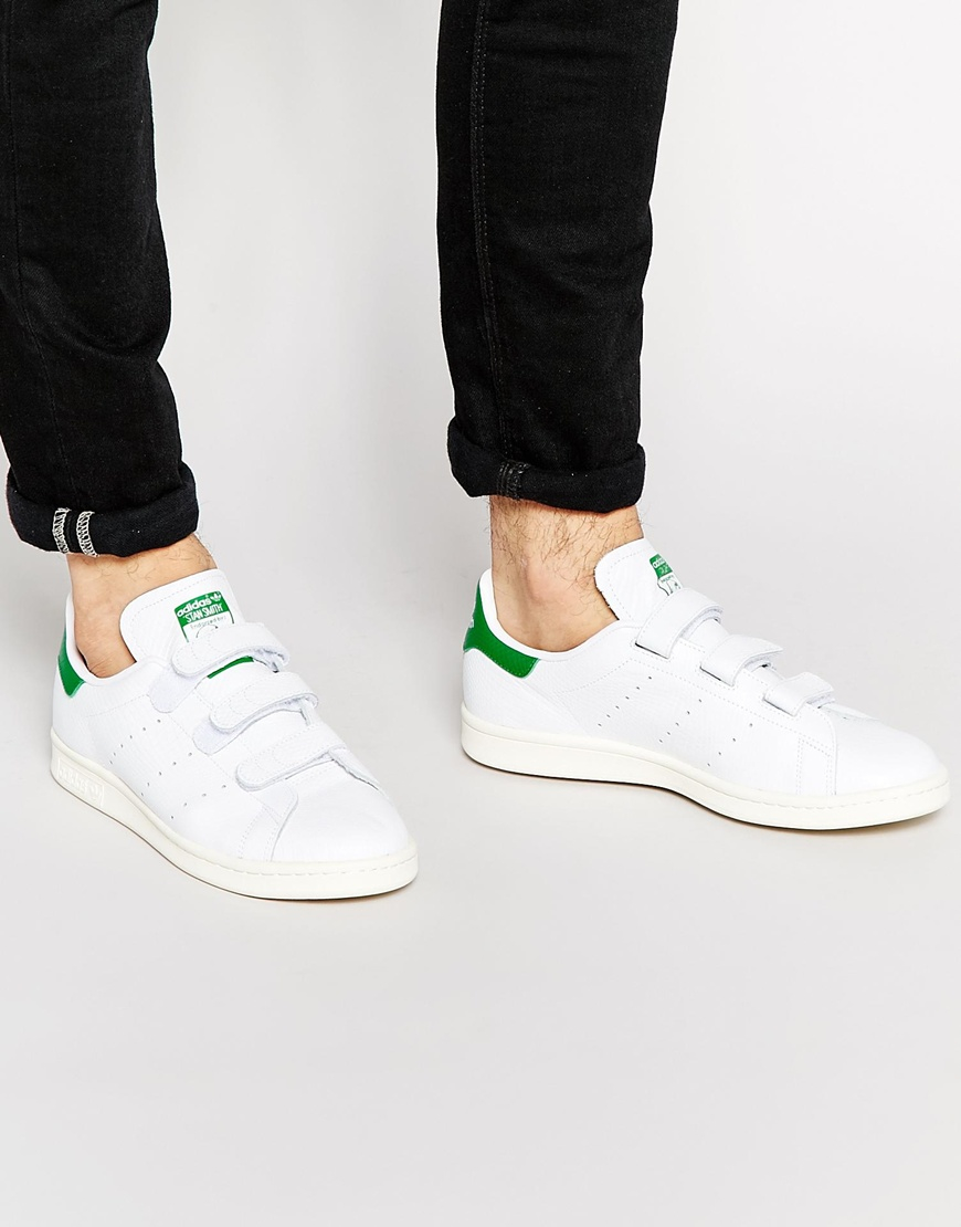 lyst adidas originals stan smith velcro trainers in white for men. Black Bedroom Furniture Sets. Home Design Ideas