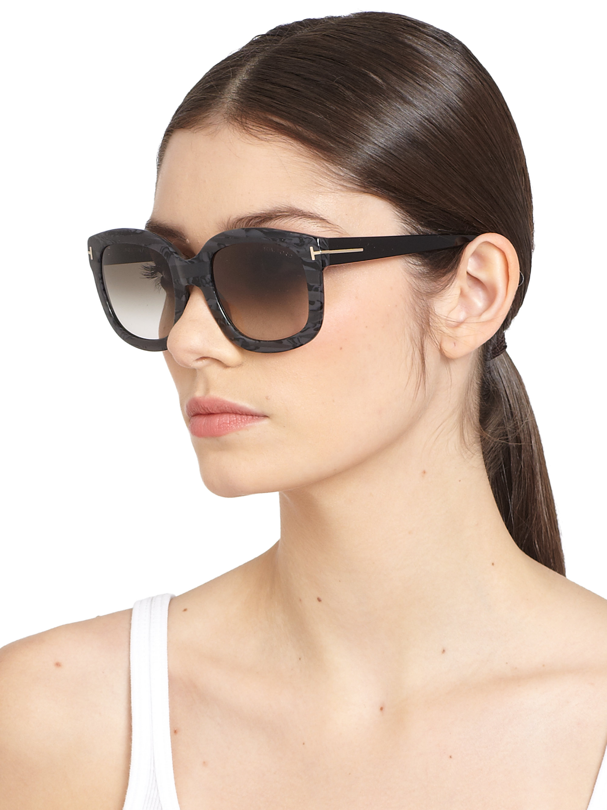 534a2e5d5a Lyst - Tom Ford Christophe 53Mm Oversized Square Sunglasses in Black