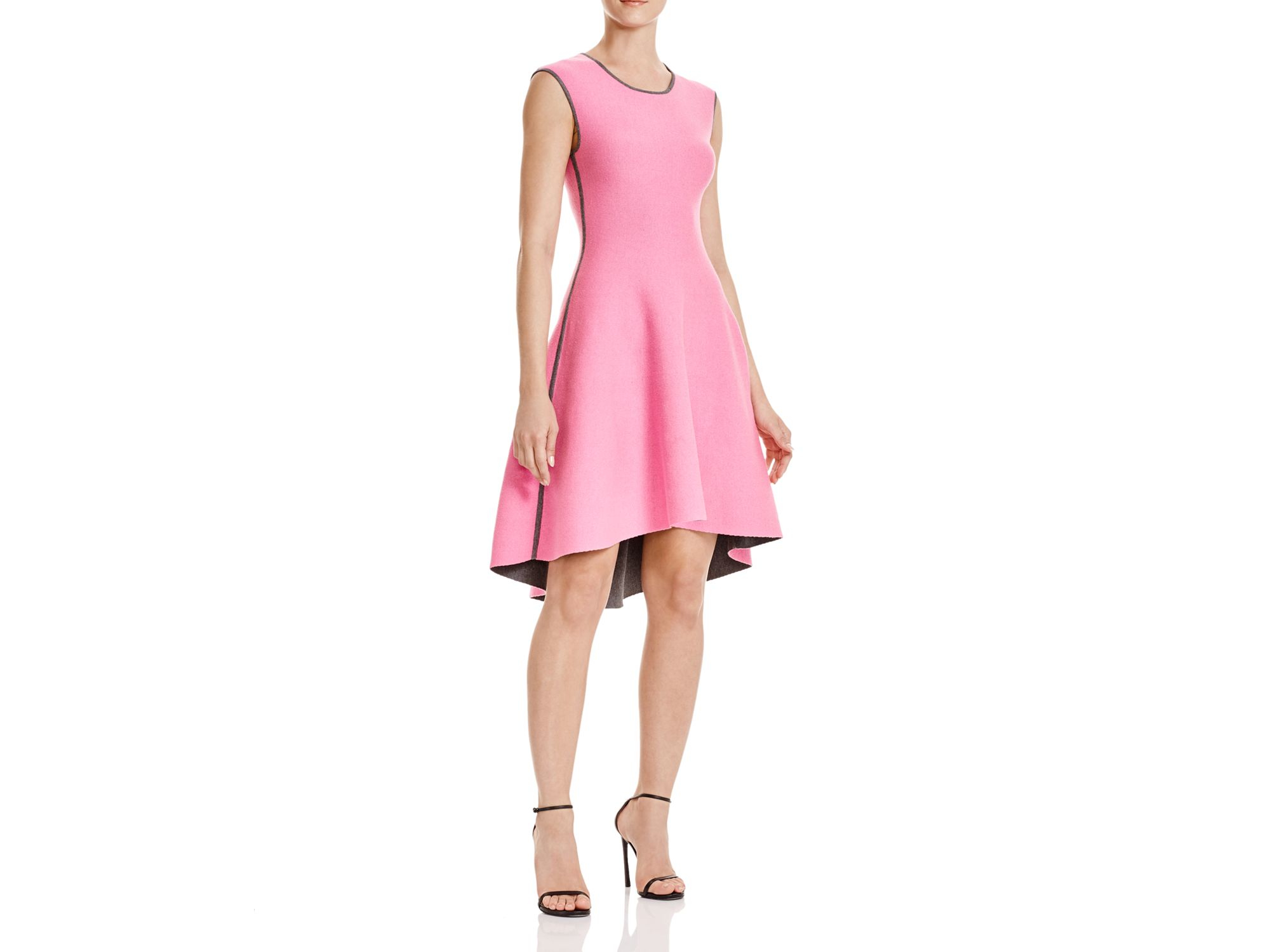 Milly Reversible Double Face Dress in Pink  Lyst
