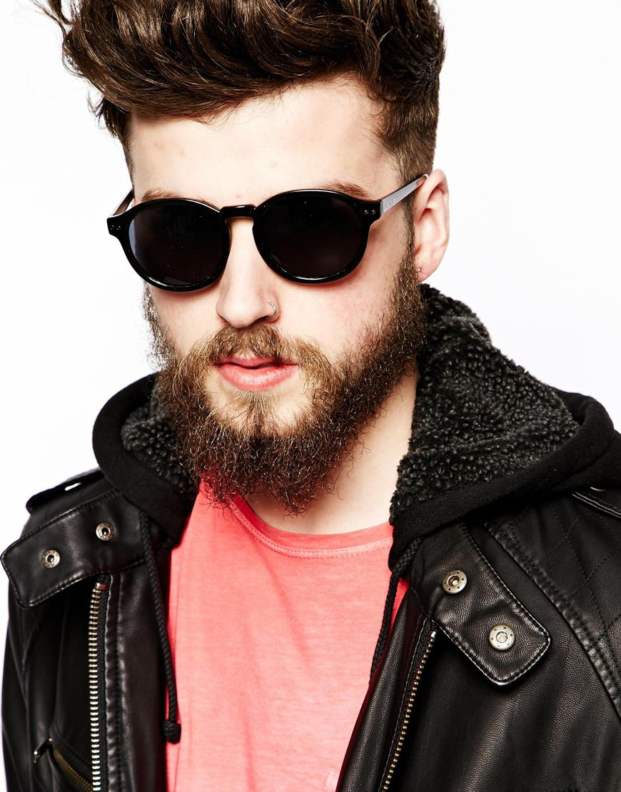 Lyst Cheap Monday Round Sunglasses In Black For Men
