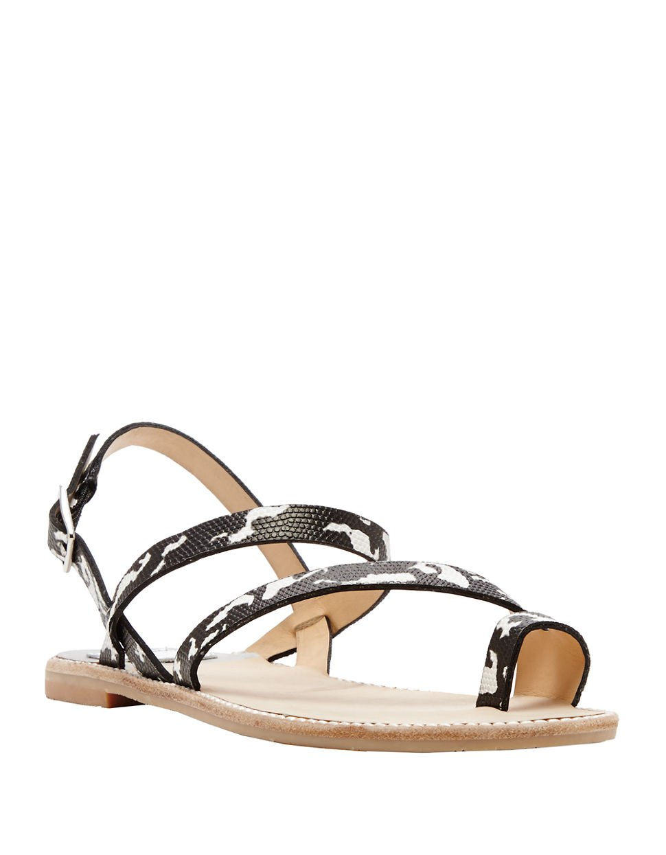 Lyst Dolce Vita Nelley Embossed Leather Sandals In Black