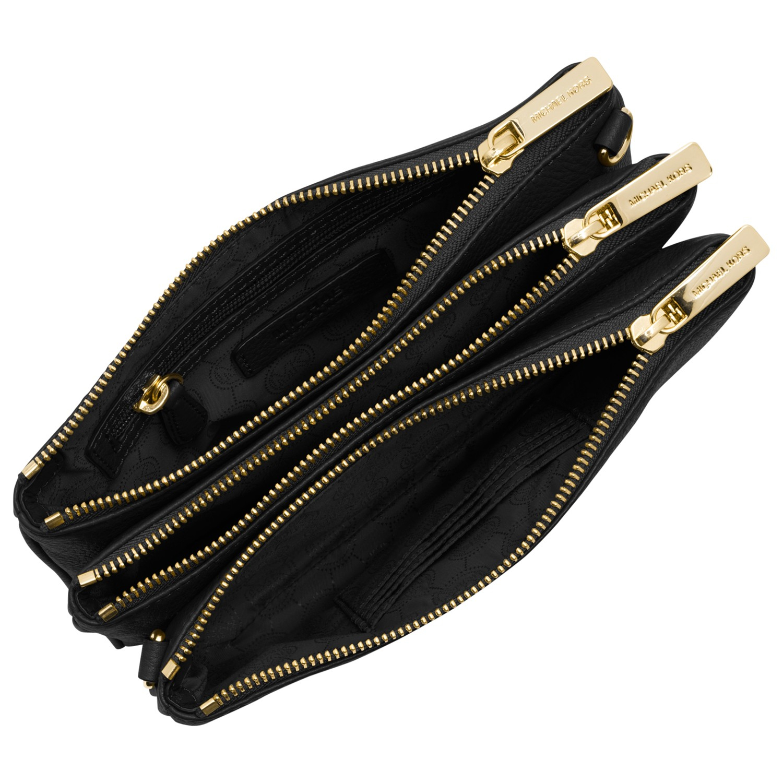 Crossbody 3 Zip Michael Kors Bedford Gusset Small Leather Across Bod