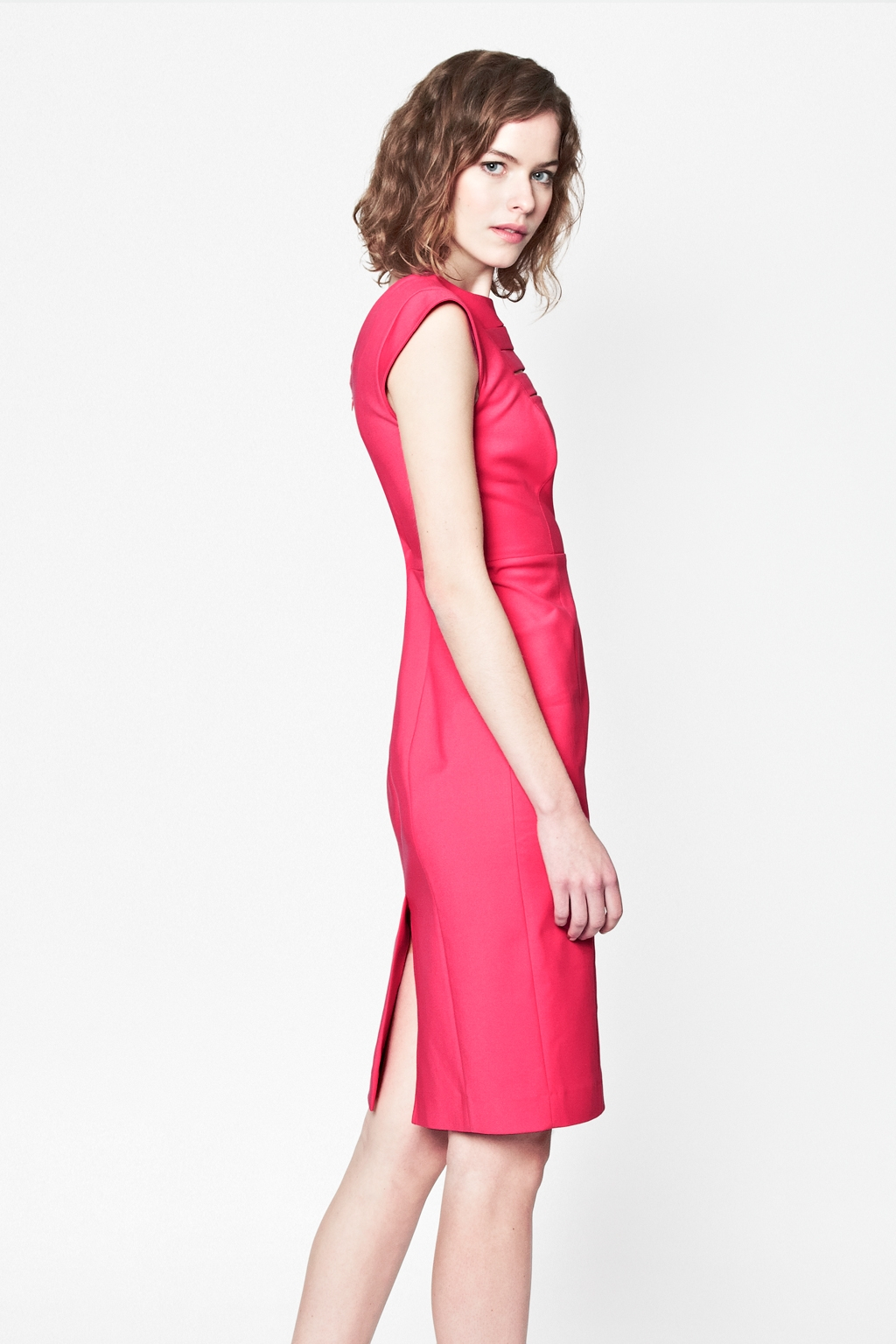 French connection estelle stretch dress in pink lyst for French connection shirt dress
