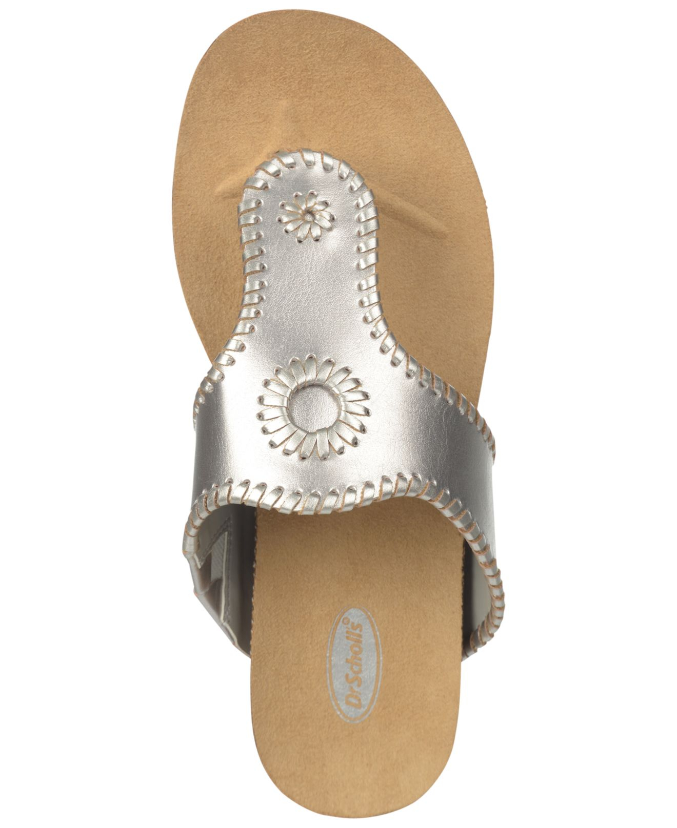 4acd5d330dd0 Lyst - Dr. Scholls Ridley Footbed Thong Sandals in Metallic