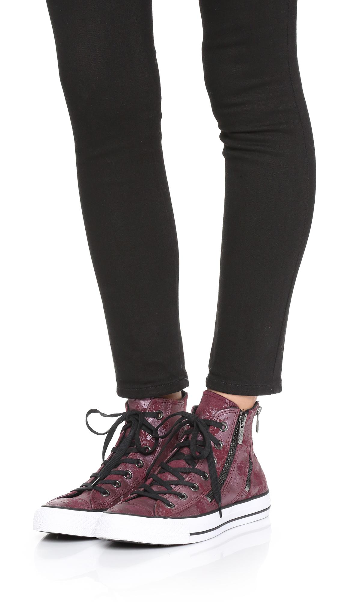 626f9d0cec5 Lyst - Converse Chuck Taylor All Star Dual Zip High Top Sneakers ...